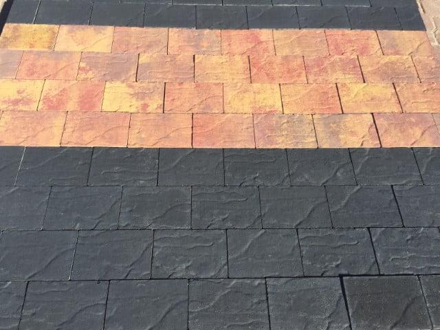 Adoquin Stone Negro y Otoño | Prefabricados de la Jara | Adoquines Albacete y Madrid